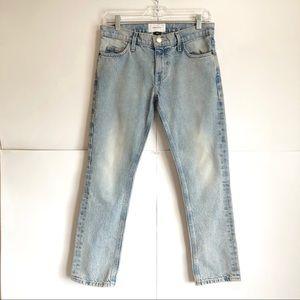 Current/Elliott Cropped Straight Leg Jeans Size 24
